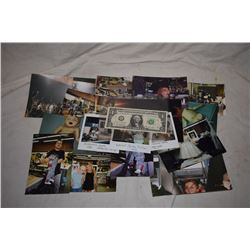 BRIDE OF CHUCKY BTS PHOTOS W/ 3 ORIGINAL POLAROIDS SHOWING FINAL DESIGNS WITH KEVIN YAHGER NOTES