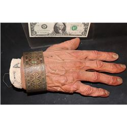 300 EPHIALTES SCREEN USED HERO HAND WITH BRACELET USED AS JESTER