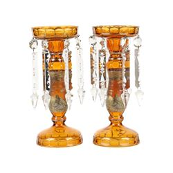 Bohemian Cut Glass Lustres