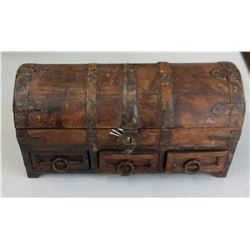 Small Antique Wood Trunk