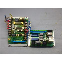 FANUC MISC. ELECTRONICS A20B-1006-0300 REV.05C AND A20B-1006-0290 REV. 02B CIRCUIT BOARDS  -SEE PICS