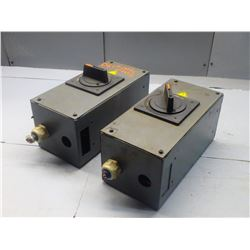 FANUC (2) A05B-2400-C402 EMERGENCY DISCONNECT SWITCHS