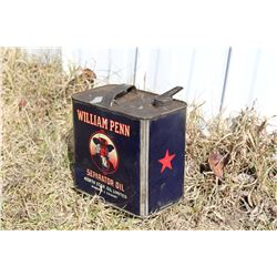 William Penn Cream Separator Tin, Red Star