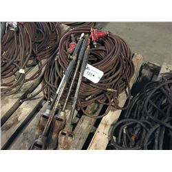 LOT OF TIGER TORCHES AND HOSES