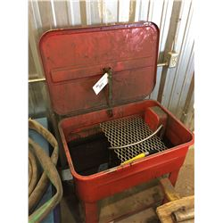 PARTS WASHER WITH BLUE TABLE & CONTENTS
