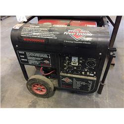 HEAVY DUTY POWER SYSTEMS HDG 9000ER 3600 RPM 26A 7.5 KW GAS GENERATOR