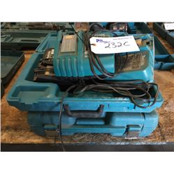3 MAKITA BATTERY CHARGERS AND 2 CASES