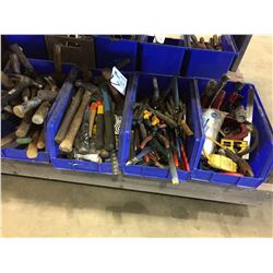 4 BLUE BINS OF ASSORTED TOOLS