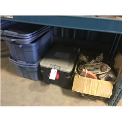 LOT OF MISC. TOOL PARTS AND CONTAINERS