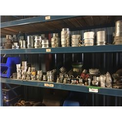 2 SHELVES OF ASSORTED COUPLINGS