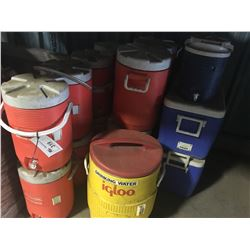 LOT OF ASSORTED WATER COOLERS