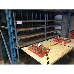 LOT OF SHELVING AND TABLES