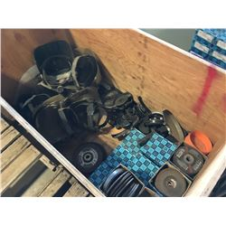 LOT OF GRINDING WHEELS AND MASKS