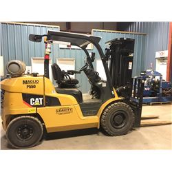 CAT MODEL P9000 8550 LB CAPACITY LPG FORKLIFT, 3 STAGE MAST, SIDE SHIFT, PNEUMATIC TIRES, APPROX.