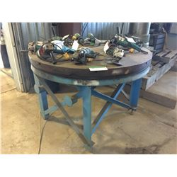4' STEEL ROTATING TABLE ON STAND