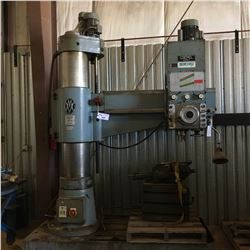 CSEPEL  HFR 50 4' RADIAL ARM DRILL WITH T-SLOT TABLE