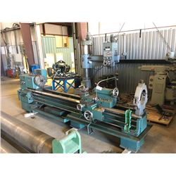 TOS TRENCIN MODEL SN 71 C LATHE, 28'' X 130'' GAP BED LATHE, COMES WITH TAPER, 3 AND 4 JAW CHUCK, 2