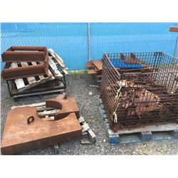 4 PALLETS OF ASSORTED STEEL