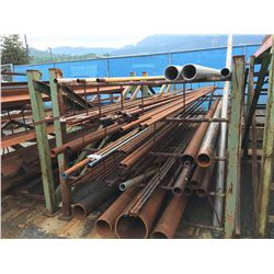 LOT OF PIPE ON RACK