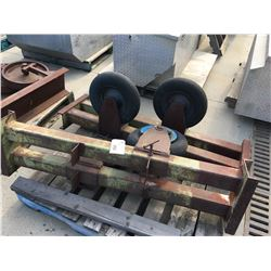 LOT OF RUBBER TIRE WELDING POSITIONERS