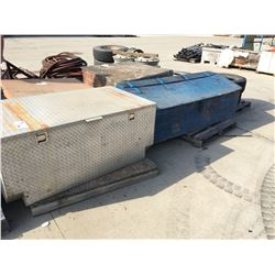 ALUMINUM TRUCK BOX AND WOOD CRATE