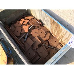 CRATE OF SQUARE PLATES