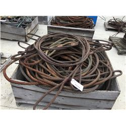 CRATE OF WIRE SLINGS