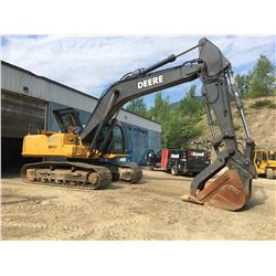 2006 JOHN DEERE MODEL 350D LC EXCAVATOR COMPLETE WITH PROGRESSIVE HYDRAULIC THUMB, HYDRAULIC QUICK