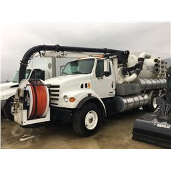 2001 STERLING VAC/COMBO TRUCK, WITH VACTOR 2100 SERIES SYSTEM, NEW ENGINE, NEW REAR SUSPENSION,