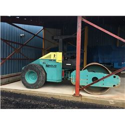 2003 AMMANN MODEL AC110N, 84'' SMOOTH DRUM COMPACTOR, WITH OPEN CAB, 90KW ENGINE POWER, 7140 KG
