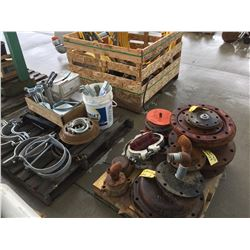 3 PALLETS OF FLANGES, CLAMPS, FILTERS AND MORE