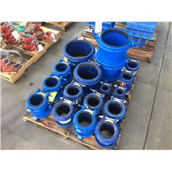 PALLET OF HYMAX COUPLINGS, BRAND NEW