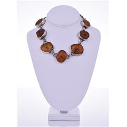 Jean Smith, Natural Amber 99.9 Percent Fine Silver