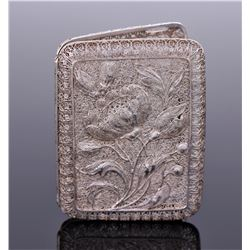 Art Nouveau Sterling Silver Filigree Cigarette Case