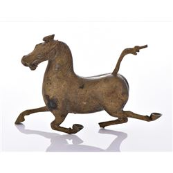Antique Chinese Brass Sculpture of The Flying Horse