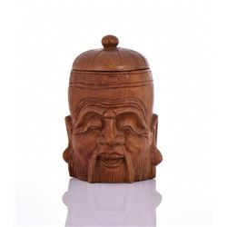 Chinese Wood Carved Container.