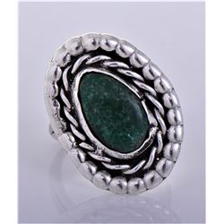 Old Pawn Native American Malachite Sterling Silver