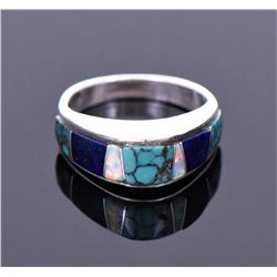 Native American Multi Stone Sterling Silver Ring