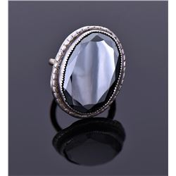 14Kt White Gold With Black Onyx. Marked Wedlock.