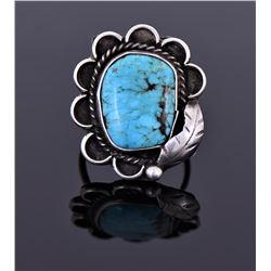 Large Native American Blue Turquoise Ring