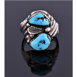 Native American Southwest Blue Turquoise Ring