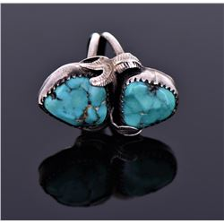 Native American Turquoise Ring Signed ES