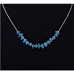 Southwest Turquoise And Sterling Silver Necklace.