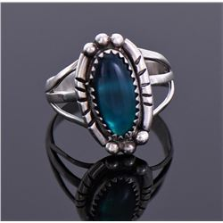 Native American Blue Moon Stone Sterling Silver