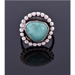 Sterling And Green Turquoise Ring