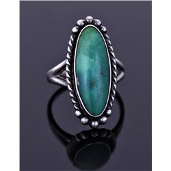 Sterling Ring With Green Turquoise Stone