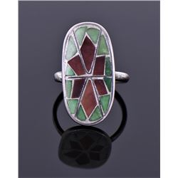 Sterling And Enamel Ring