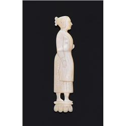 19Th Century Mother of Pearl Perfume Bottle Carved
