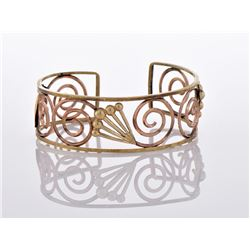 Vintage Yellow And Rose Gold Tone/Plated Cuff