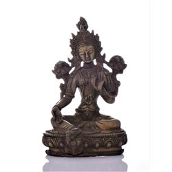 Bronze Tibetan Buddha With Removable Secret